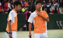 高校生唯一の8強入りを果たした本倉健太郎/上松俊貴(岡山理大附高)