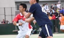 日本体育大OBペア・稲積京之介/井口雄一(ミズノ/スマッシュイグチク)は8強入り
