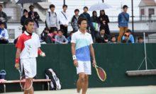 昨年王者の篠原秀典/小林幸司(日体桜友会/ミズノ)は、準々決勝で水澤悠太/長江光一(NTT西日本広島)にファイナルで敗れた