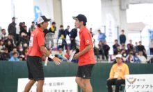 昨年王者の水澤悠太/長江光一(NTT西日本広島)は今年も決勝まで勝ち上がったが、思うようにテニスをさせてもらえず