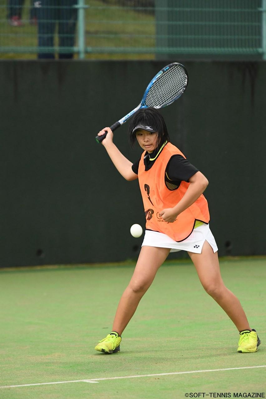 U-14女子ダブルス優勝:庄司琴里
