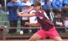 6/22~26ハイスクール・ジャパンカップ=女子シングルスVは貝瀬ほのか(和歌山信愛高)。男子シングルス優勝の上松と同じく、中学時代にナショナルチームに選出された経験を持つ逸材 写真◎井出秀人