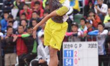 6/22~26ハイスクール・ジャパンカップ=船水颯人に続くシングルス史上2人目の連覇、ダブルスも制して男子初の2冠を達成した上松俊貴(岡山理大附高) 写真◎井出秀人