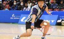 決勝では水澤/長江の攻撃にひるまず応じた上松。「拾って拾って、いいラリーが続いた」