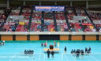 昨年の愛知県・日本ガイシホールで行われた全日本高校選抜開会式のもよう