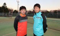 船水颯人選手(左)と上松俊貴選手(右)