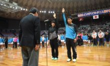 選手宣誓は大阪府枠で出場の上宮高・広岡宙選手と昇陽高・吉田栞里選手