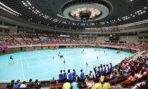 高校選抜が開催されている日本ガイシスポーツプラザ(愛知県)