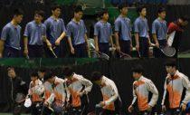 3月22日の私学選抜団体決勝で戦った上宮(上)、羽黒(下)