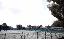 トップトーナメント「ヨネックス杯」が行われる明日香庭球場