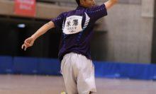 【男子ダブルス】決勝で早稲田大ペアに敗れた米澤要(明治大)は、地元石川で開催されるインカレでのリベンジを誓った