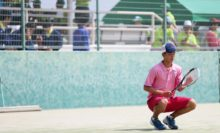高田商業高主力の林湧太郎は、32強入りで2日目に進んだ