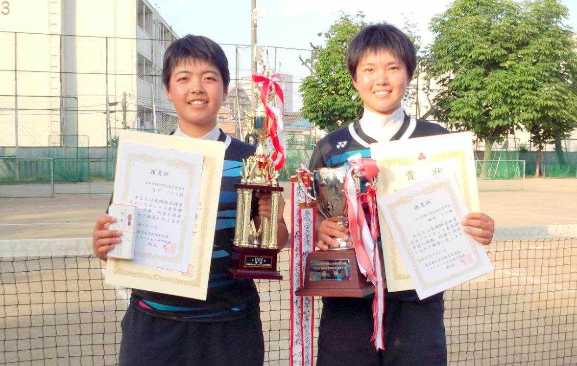 東京都女子個人戦連覇を達成した林田リコ/宮下こころ。全国でも連覇に期待がかかる