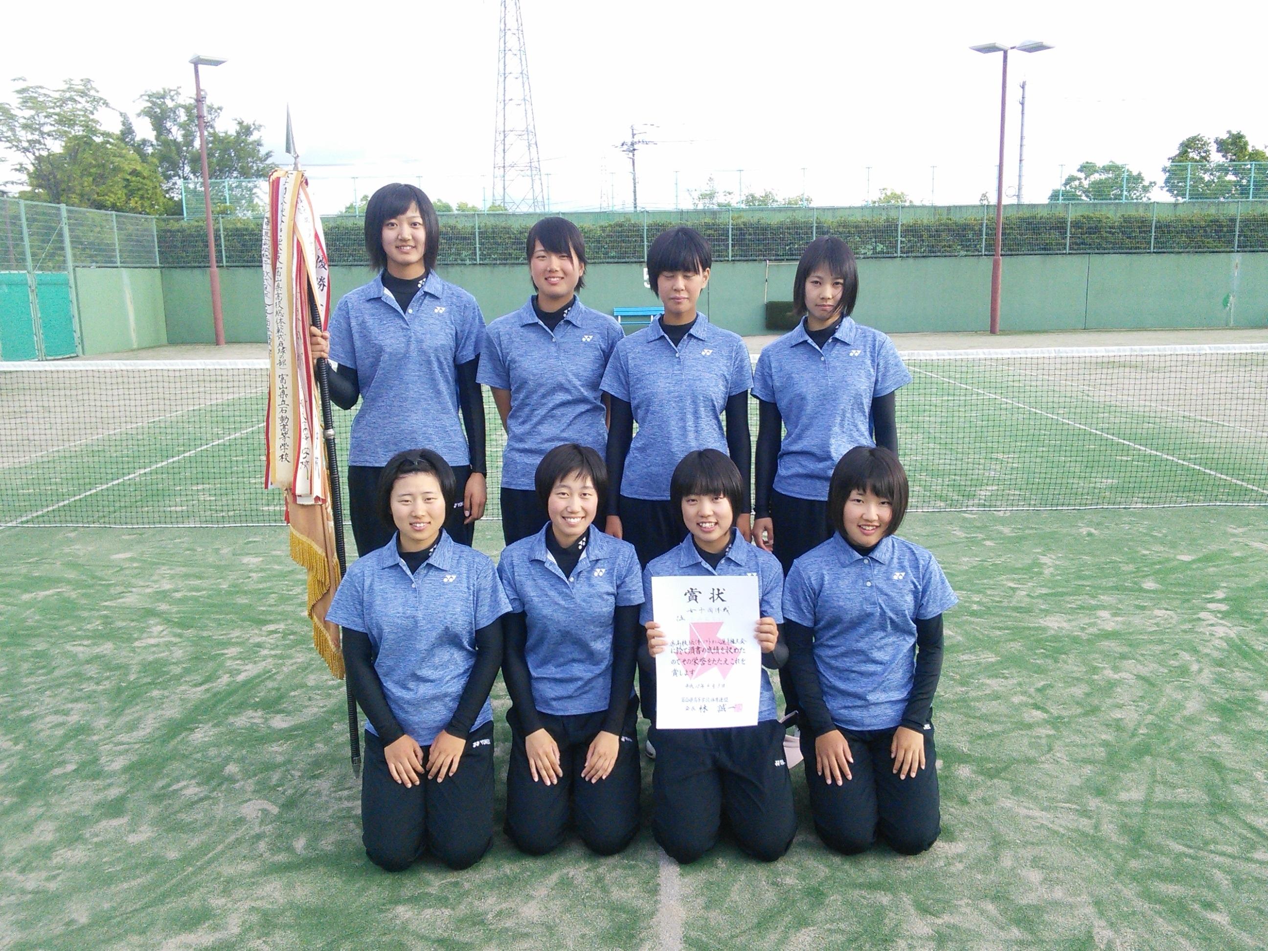 富山県・女子優勝の高岡西。決勝では高岡商との3番勝負を制してのV!