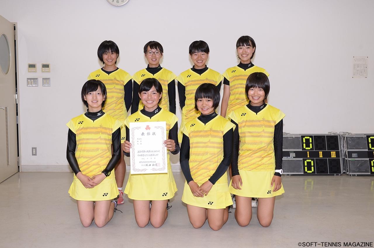 群馬・女子団体3位の渋川女子
