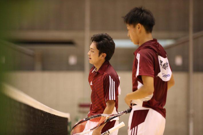 大学王座の決勝では、日体大の村田/山本にG⑤-2で勝利。後輩にバトンをつないだ