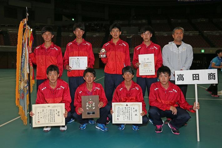 3年ぶり10回目の優勝を果たした高田商