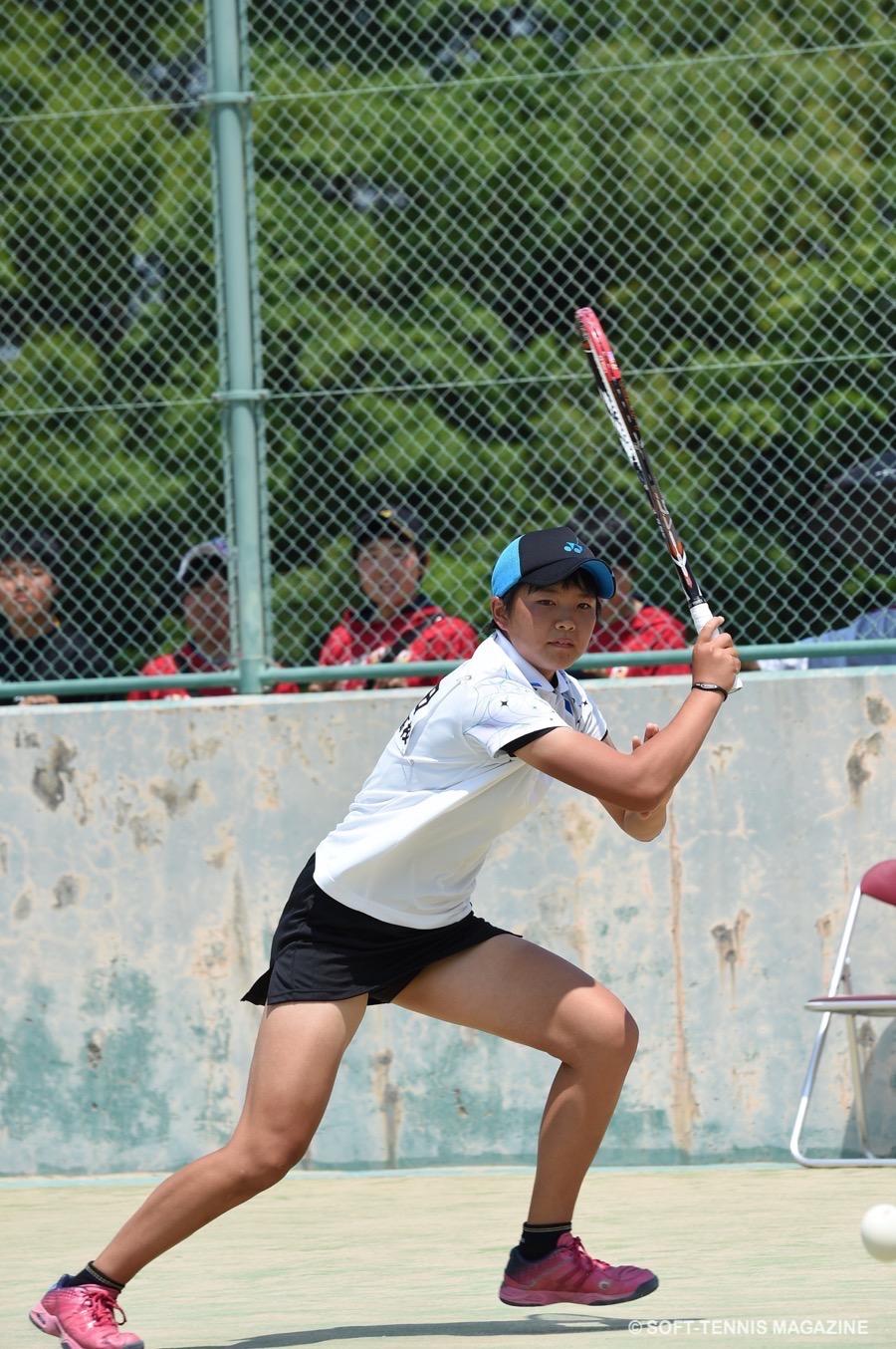全日本シングルス2016・決勝進出を果たした林田リコ(文大杉並高)