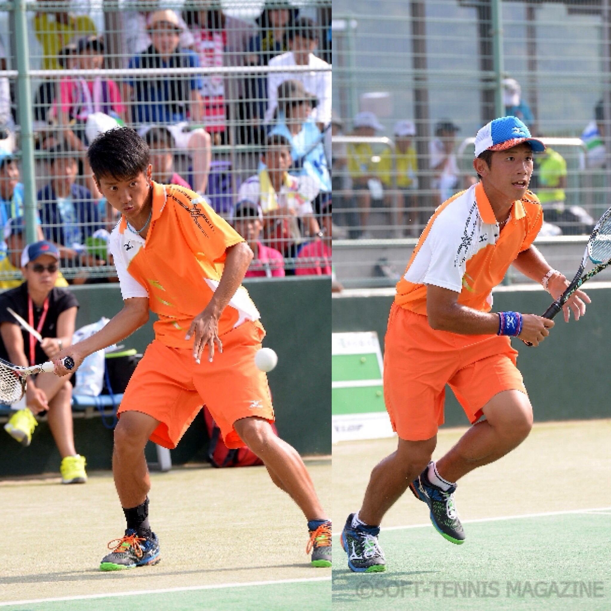 ハイジャパダブルス準優勝の羽黒・宮崎(左)/若月(右)も2日目へ。2日目初戦は上宮・上岡/広岡