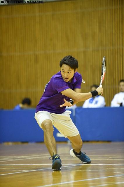第4、5対戦のシングルスに登場した船水雄太