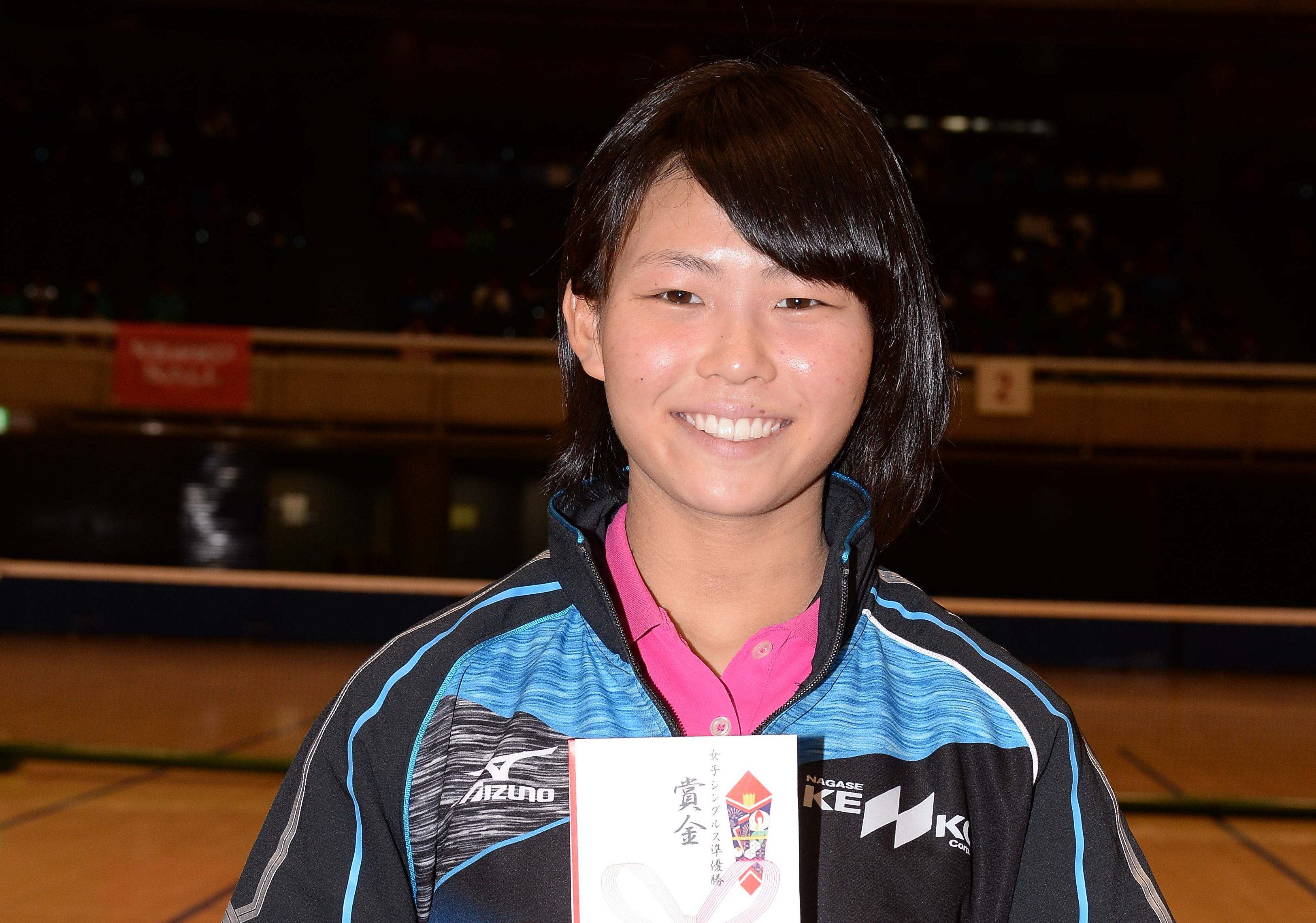 第62回全日本女子選抜・シングルス2位の早川日向(ナガセケンコー)