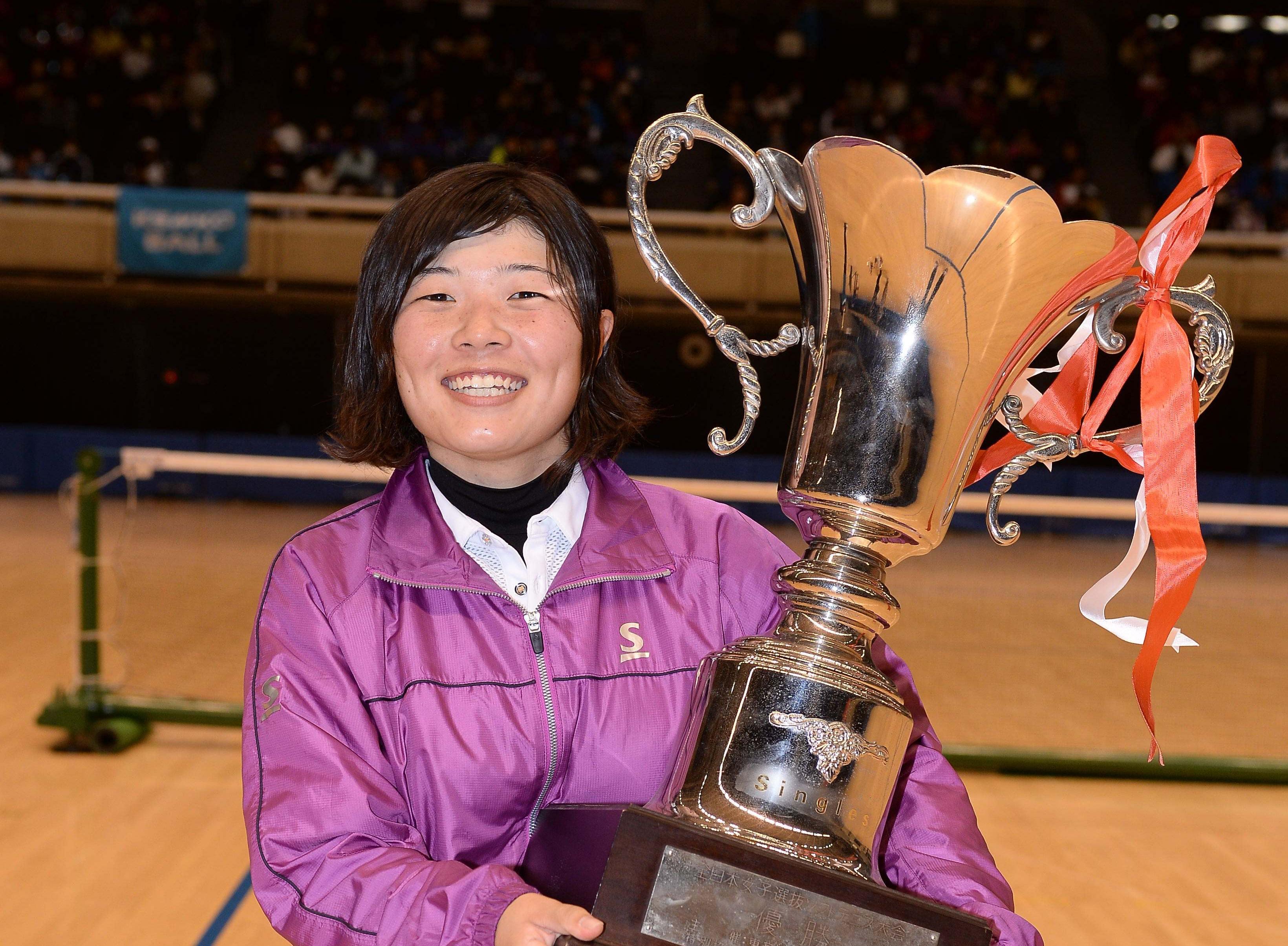第62回全日本女子選抜・シングルス優勝の小谷菜津美(ダンロップ)