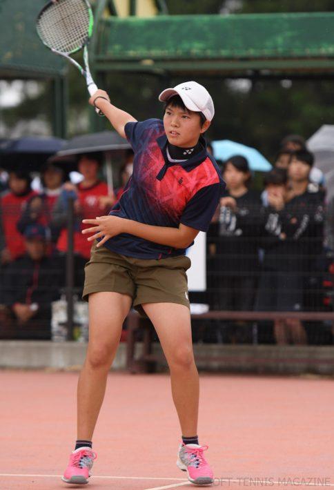 今季はナショナルチームにも選ばれており「高校生の大会ではつねに優勝をねらっていきたい」と意気込む林田。年下の選手に負けるわけにいかなかった