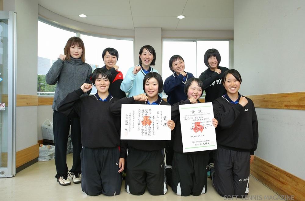 青森県・女子団体3位の五所川原商