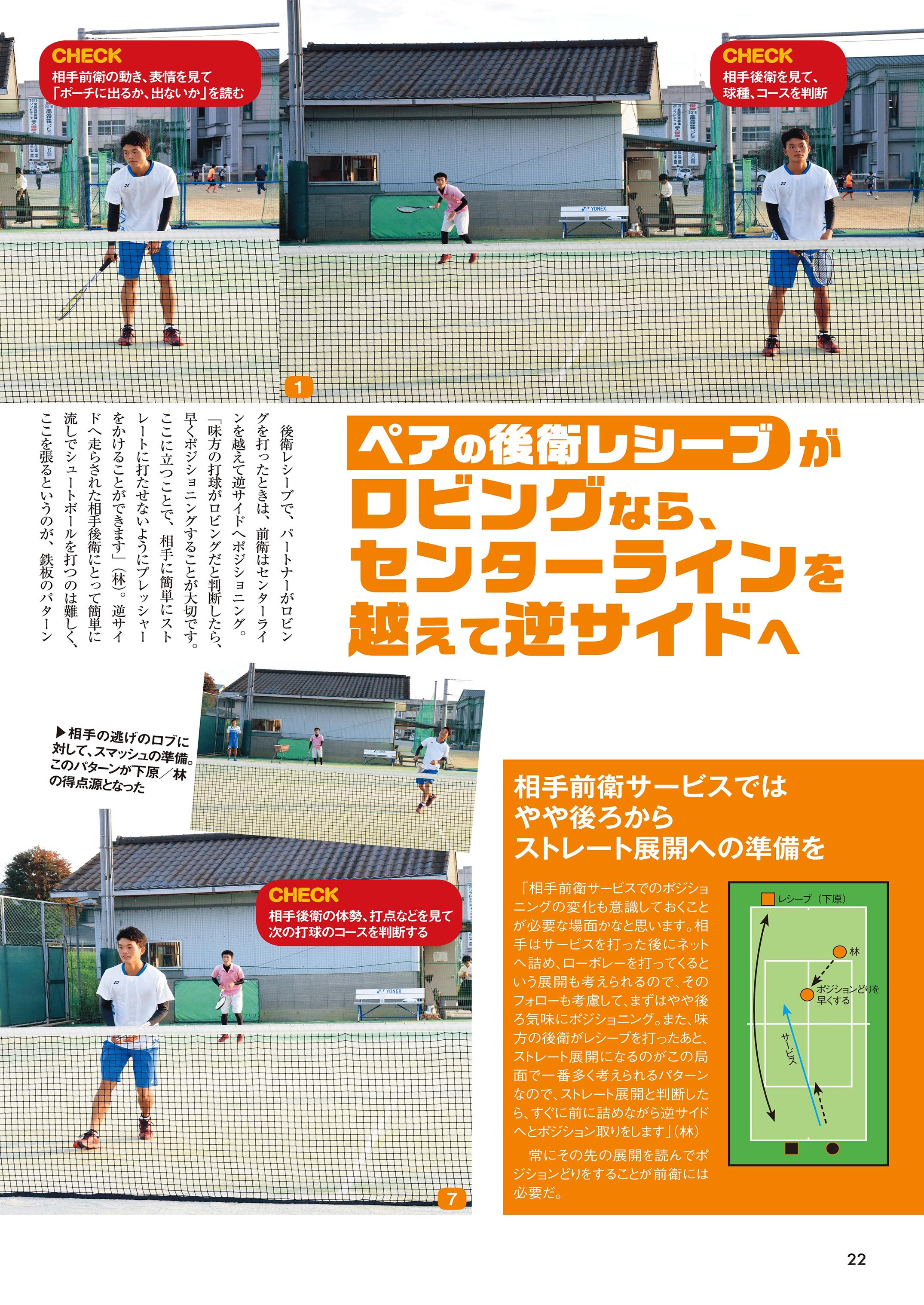 ソフトテニスマガジン2019年2月号P22