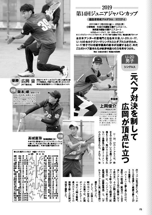 ソフトテニスマガジン2020年2月号P78